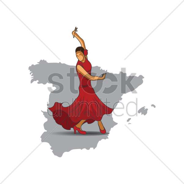 flamenco dancer vector graphic