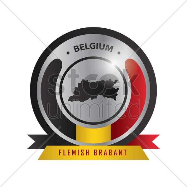 flemish brabant map label vector graphic
