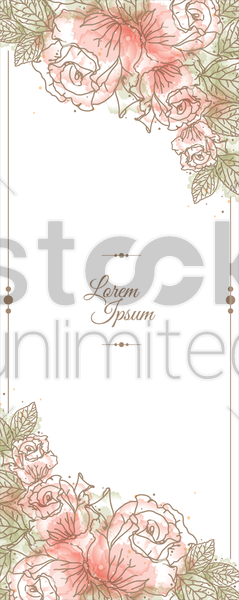 floral background vector graphic