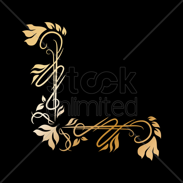 Free floral design vector graphic
