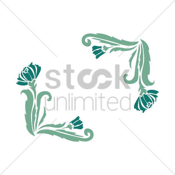 floral frame vector graphic