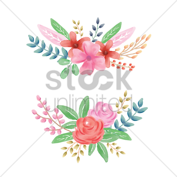floral page divider vector graphic
