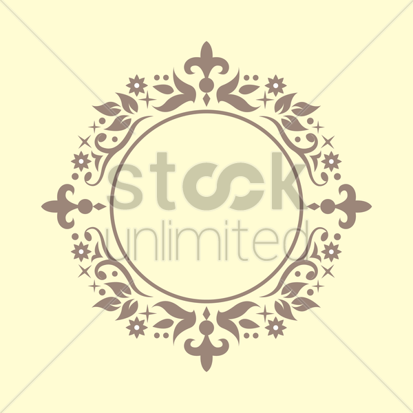floral victorian frame vector graphic