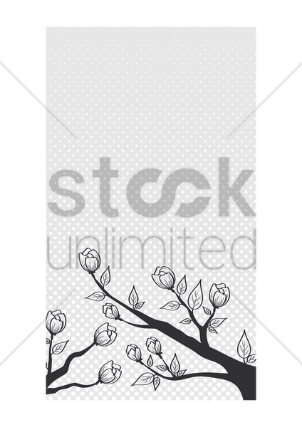 floral wallpaper for mobile phone vector graphic