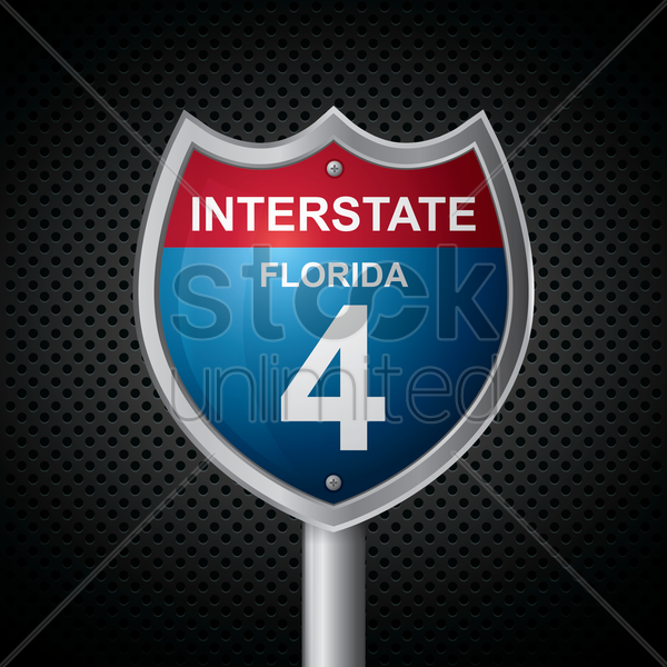 florida 4 route sign vector graphic