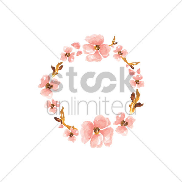 flower garland vector graphic