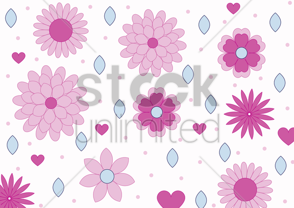 flowers nature logo symbol and icons vector graphic
