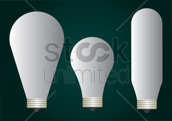 fluorescent bulbs vector graphic