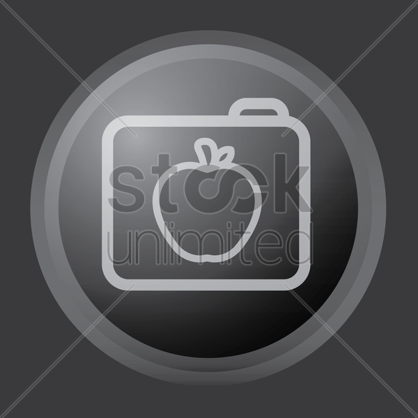 folder with apple icon vector graphic