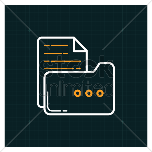 folder with file icon vector graphic