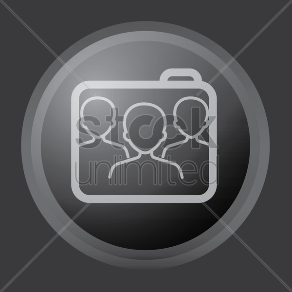 folder with group icon vector graphic