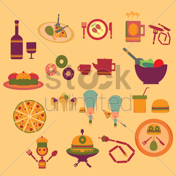 food and beverage concept vector graphic