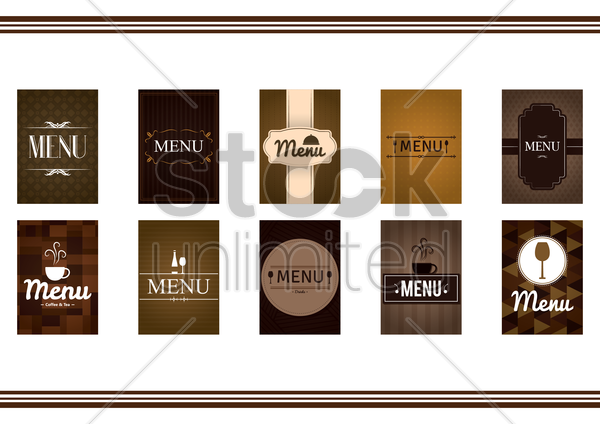 food and beverage menu design vector graphic