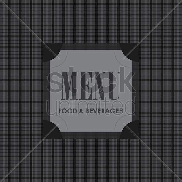 food and beverages menu design vector graphic