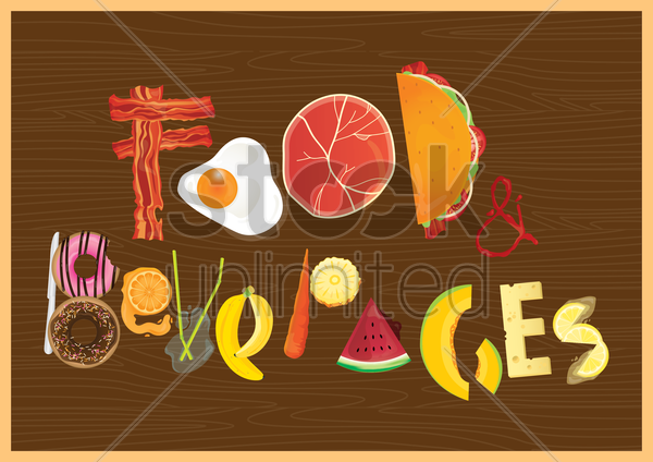 food and beverages vector graphic