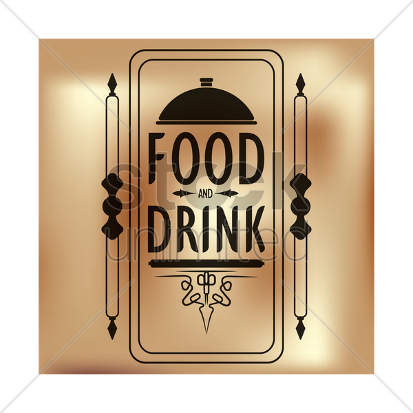 food and drink menu vector graphic