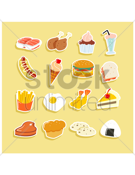 food collection vector graphic