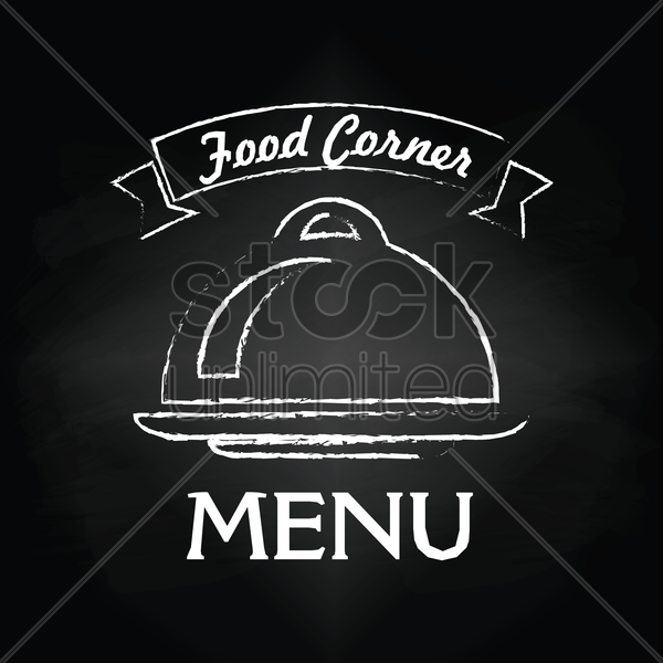 food corner menu card design vector graphic