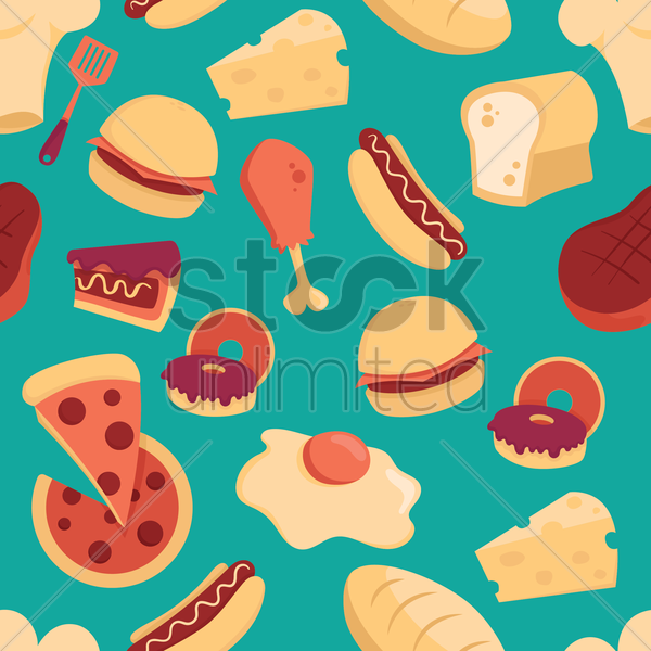 food design background vector graphic
