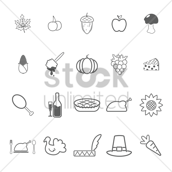 food icon collection vector graphic