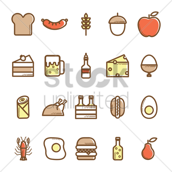 Free food icons vector graphic