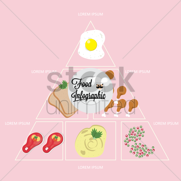 food infographic background vector graphic