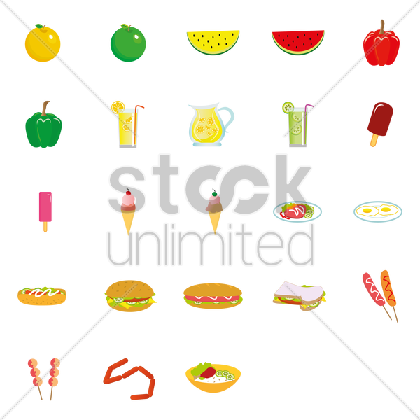 Free food items vector graphic