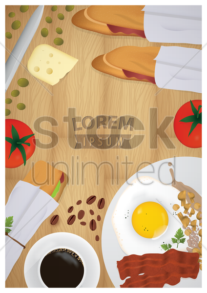 food poster design vector graphic