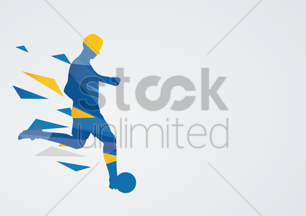 football in action vector graphic