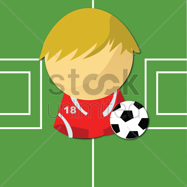 Free football player vector graphic