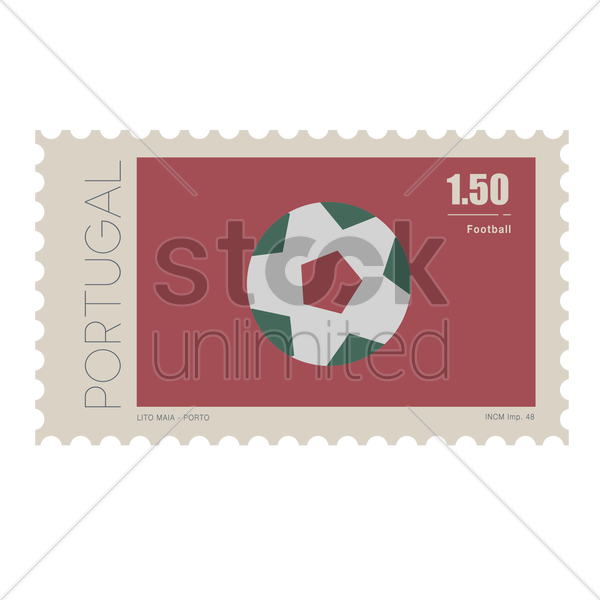 football postage stamp vector graphic