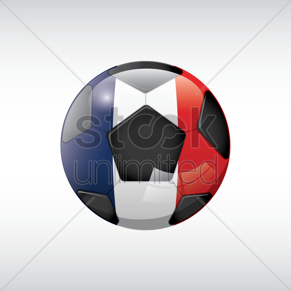 football with france flag vector graphic