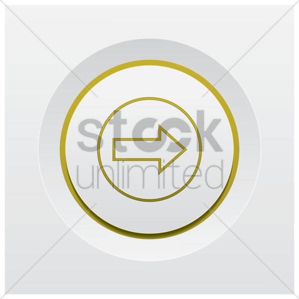 forward arrow icon vector graphic