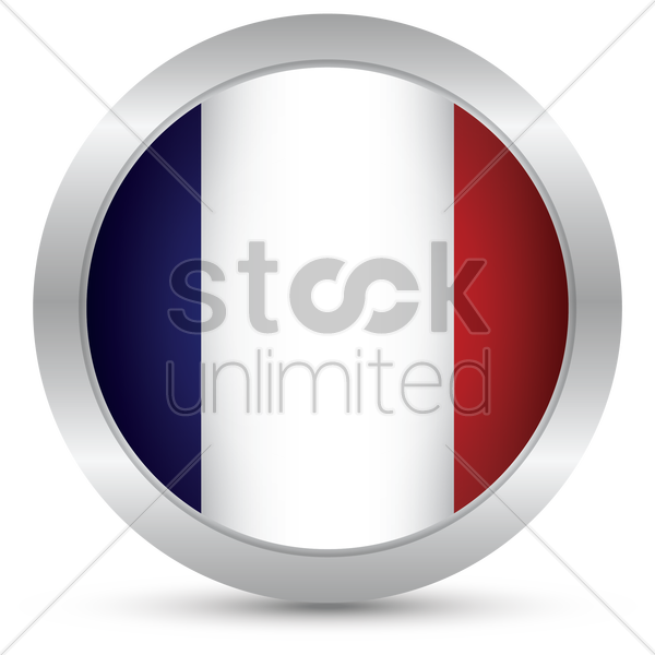 france flag button vector graphic