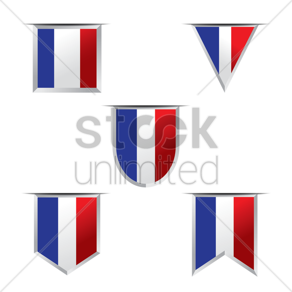 france flag pennants vector graphic