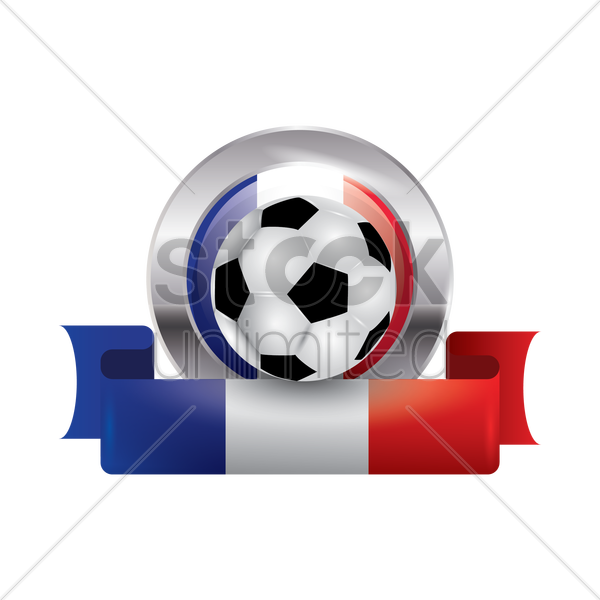 france flag with football vector graphic