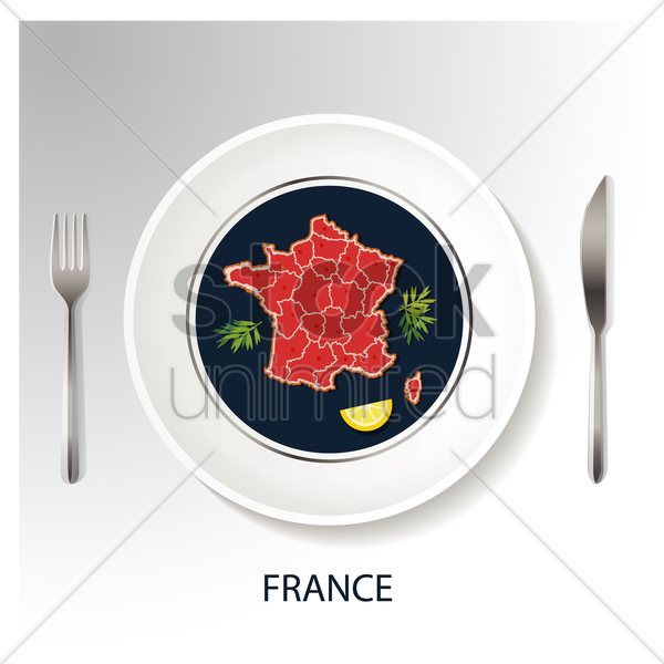 france map vector graphic