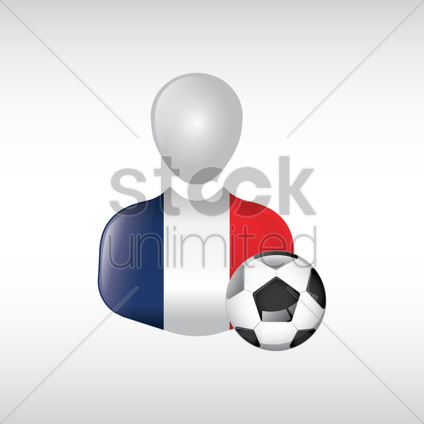 france soccer player vector graphic
