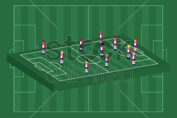 france team formation vector graphic