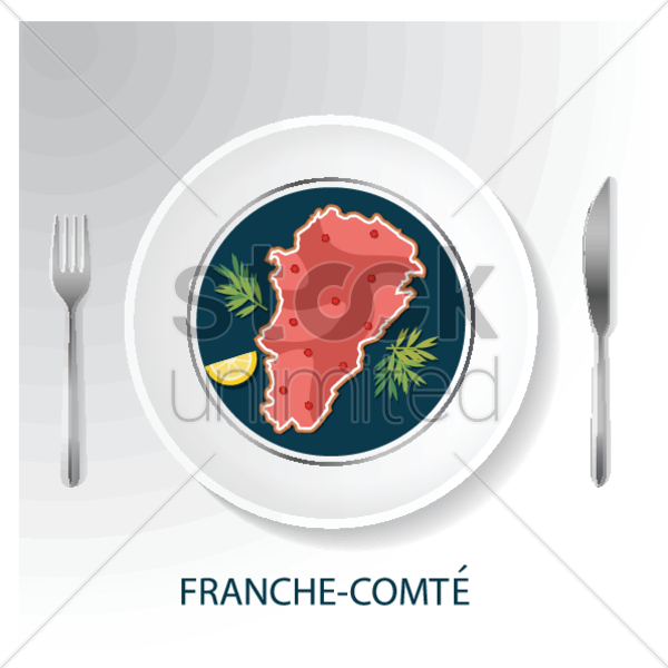 franche-comte map vector graphic