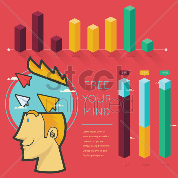 free your mind infographic vector graphic