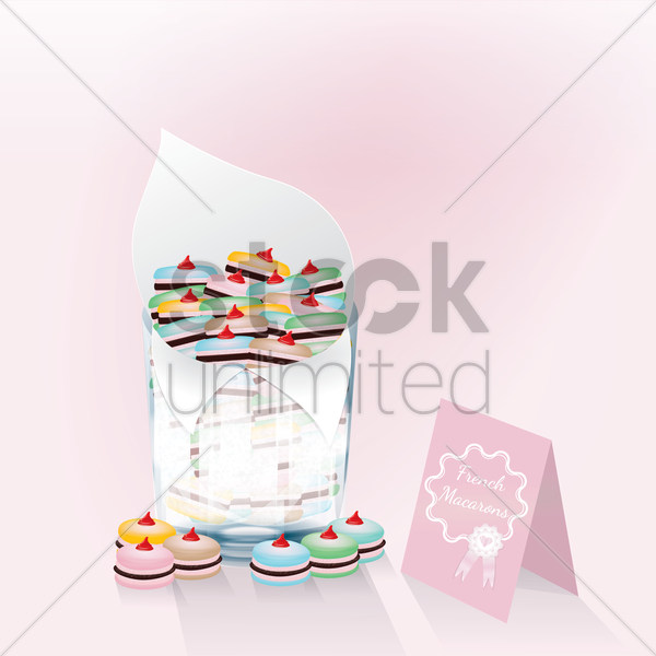 french macarons vector graphic