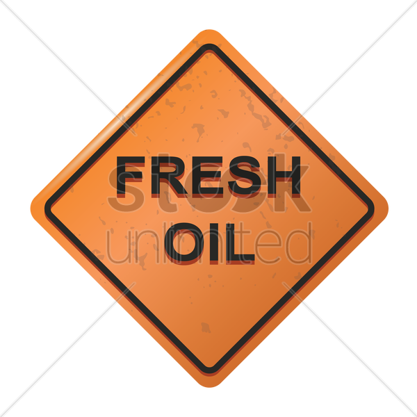 fresh oil sign vector graphic