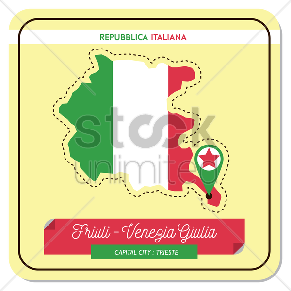 friuli-venezia giulia map vector graphic