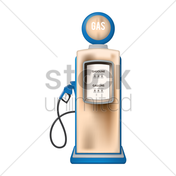 fuel dispenser vector graphic