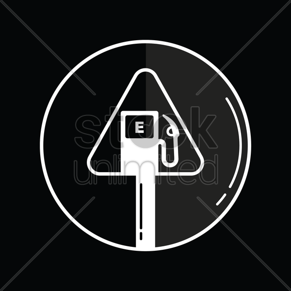 fuel station signboard icon vector graphic