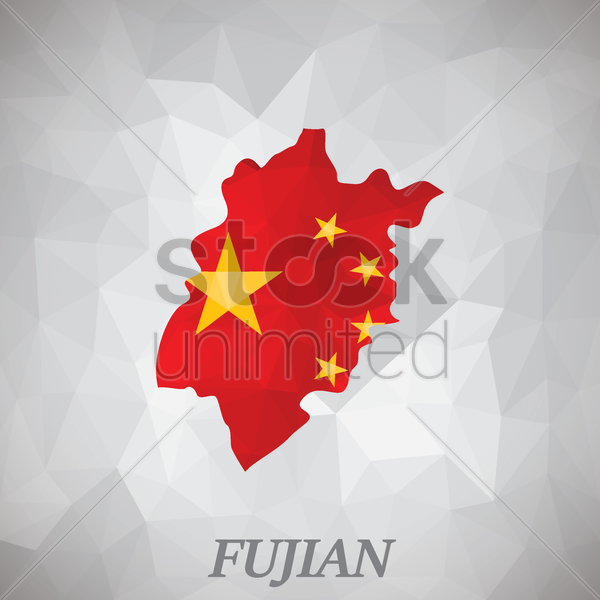 fujian map vector graphic