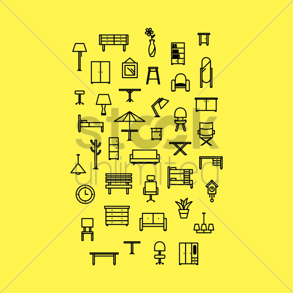 furniture vector graphic