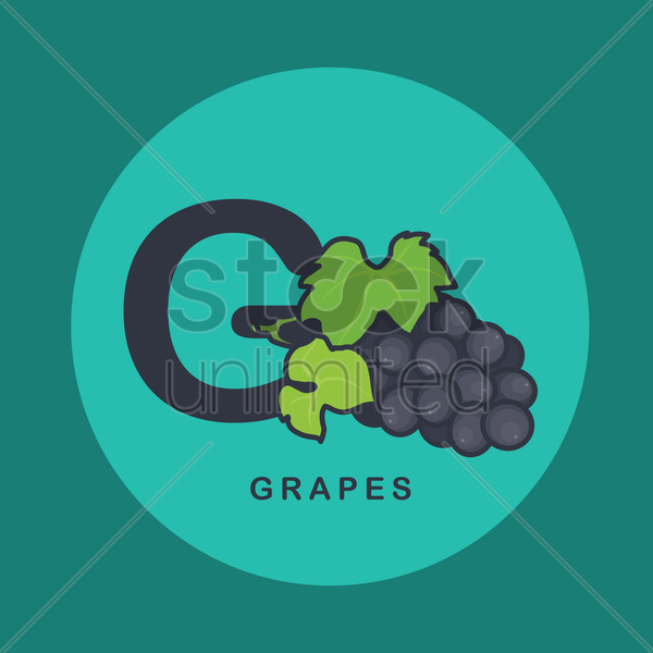 Free g for grapes vector graphic