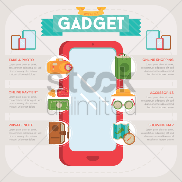 gadget infographic vector graphic
